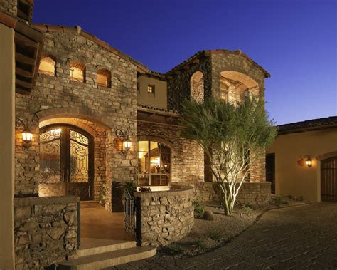 Awe Inspiring Custom Italian Villa Stone House   Coronado Manufactured Stone   Mediterranean