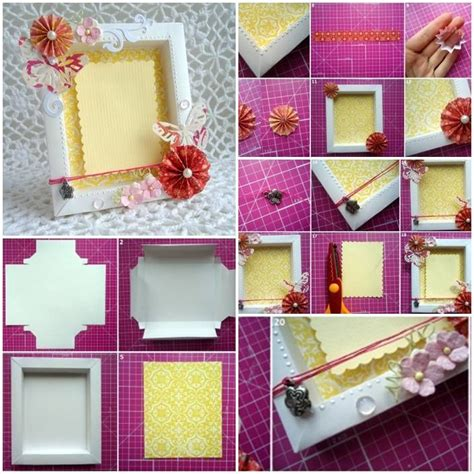 How To Make Photo Frames With Handmade Paper - 17 best ideas about cardboard picture frames on