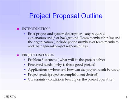 project outline template project outline images