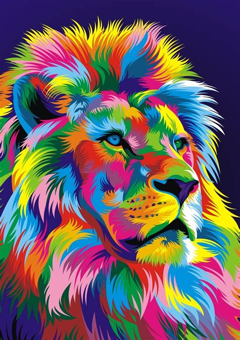 lions colors de colores 2 varios en 2018 arte