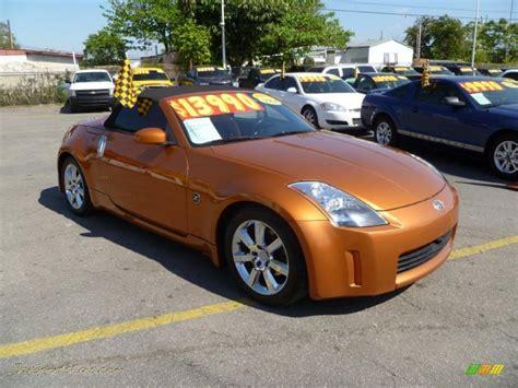 burnt orange nissan altima 2004 nissan 350z touring roadster in le mans sunset