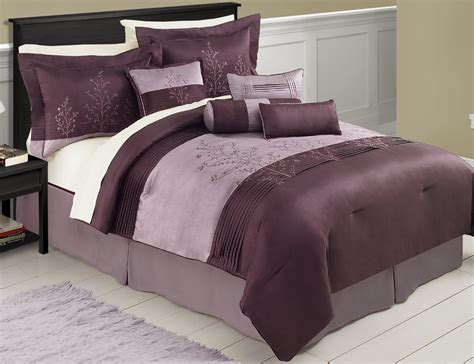 purple and brown comforter set purple bedding sets the comfortables