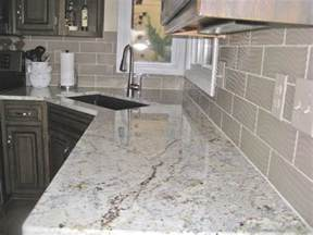 pictures of granite kitchen countertops and backsplashes overland park contractor installs granite countertop and