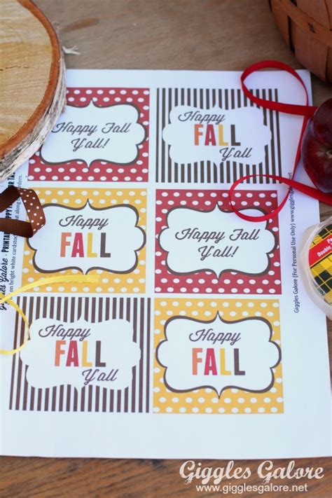 printable labels for your fall food gifts by lia griffith caramel apples and happy fall y all printable