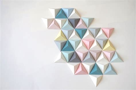 Triangle Origami - fresque origami triangle d 233 co murale for me lab