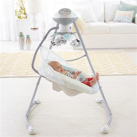 white baby swing com fisher price moonlight meadow cradle n swing