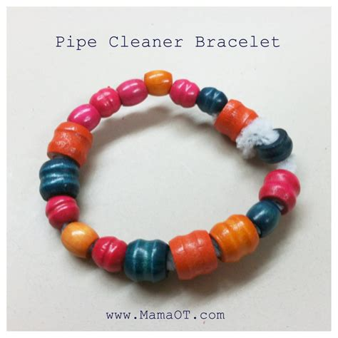 easy pipe cleaner bracelet for ot
