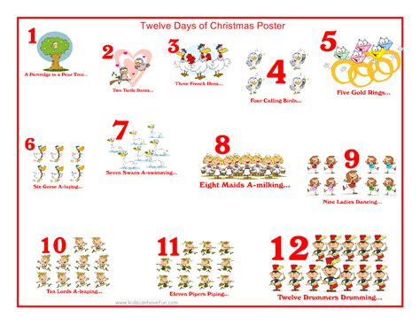 12 days of card template 12 days of song lyrics new calendar template site