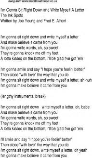 top songs 1936 charts lyrics for im gonna sit