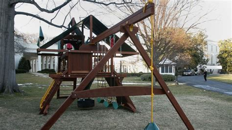 white house swing set obama daughters white house swing set removed the panolian