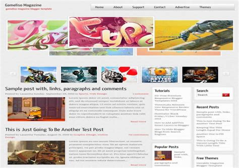 gameliso magazine blogger template free download free