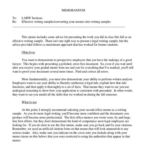 memo sections 13 legal memo templates free sle exle format