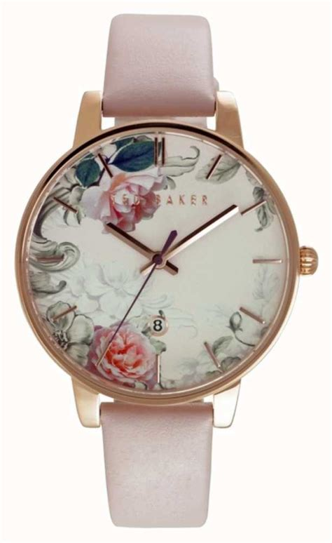 Ted Baker Te10024783 ted baker womens floral pink leather te10030653 class watches