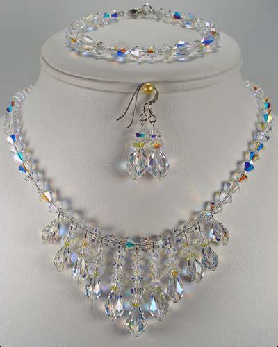 Crystal jewelry wedding jewelry