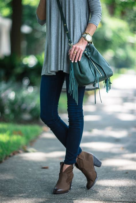 Fringe Jegging fringe bag and brown booties style