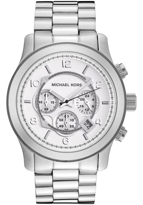 michael kors runway oversized silver tone