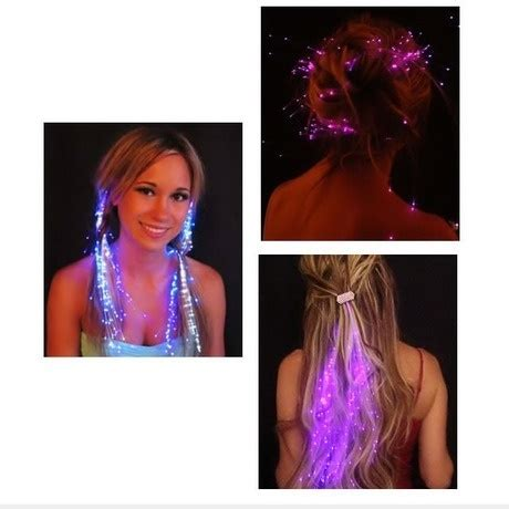hairstyles for rave party i found glowbys led fiber optic light up hair barrette