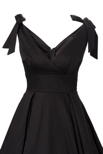 Shopping With Andra Tie Me Up In A Pretty Bow Second City Style Fashion by 50s Tie Me Up Dress In Black Sateen Deadly