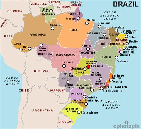 map of brazil with states map of brazil states pictures to pin on pinsdaddy
