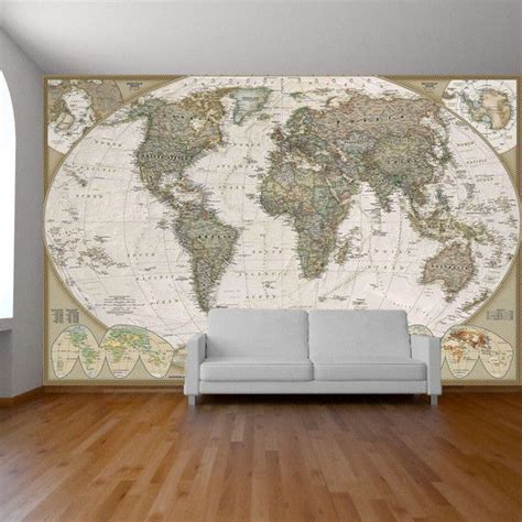 Vinyl Wall Murals old world map wall mural vinyls world map mural and