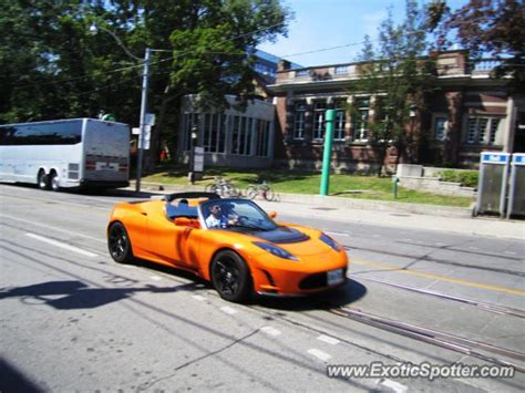 Tesla Roadster For Sale Canada Tesla Roadster Spotted In Toronto Canada On 08 30 2012
