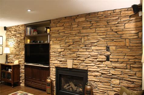 stone wall accent lighting cultured stone accent wall the cultured stoners