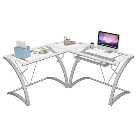 z line glass desk z line designs kora l shaped corner desk white with