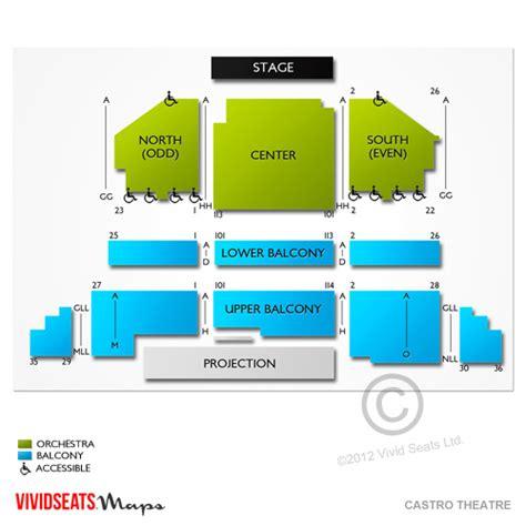 castro theater seating chart castro theatre tickets castro theatre information
