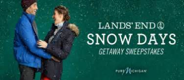 Lands End Sweepstakes - lands end snow days getaway sweepstakes win a trip to michigan 2 000 more