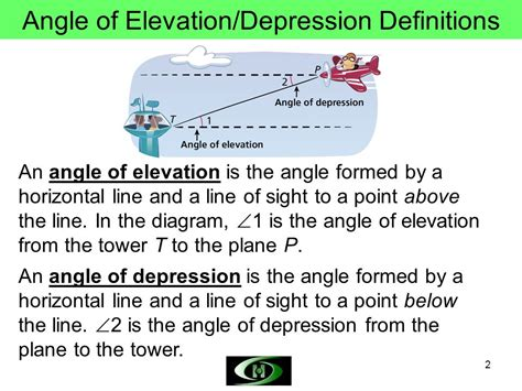 Angle Of Elevation And Depression Worksheet by Quiz Of Angle Of Depression Circle The Correct Answer