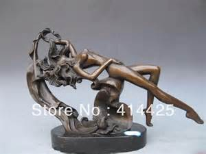 Home Decor Stores In Usa western art pure bronze recumbency nude belle sculpture on