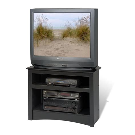 prepac black corner tv stand the home depot canada