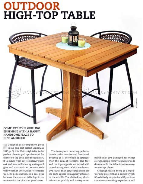Outdoor High Top Table Plans ? WoodArchivist