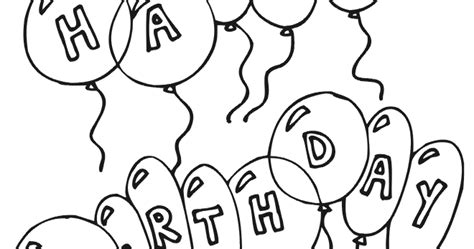 coloring pages of happy birthday balloons happy birthday coloring pages free printable pictures