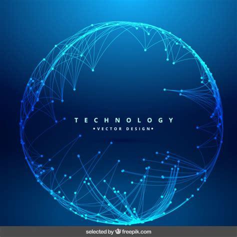 imagenes gratis tecnologia fondo de tecnolog 237 a con red circular descargar vectores