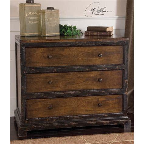 distressed antique green 3 drawer wood dresser uttermost rishi antique 3 drawer dresser in distressed