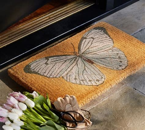 pottery barn butterfly rug butterfly doormat pottery barn