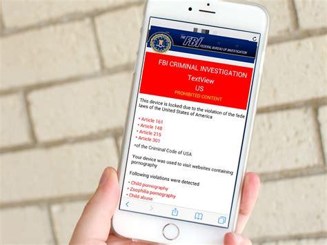 Fbi Phone Number Lookup How To Remove Fbi Warning Virus From Iphone In Safari