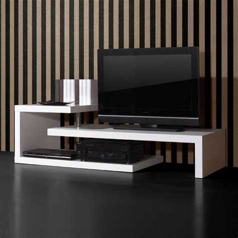 Tv Tables by Genesis White High Gloss Multi Purpose Tv Stand 0397 84 Ebay