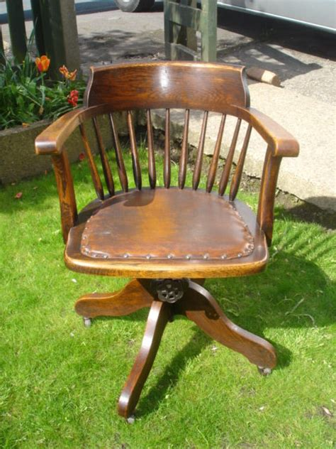 Antique Desk Chairs Swivel by Antique Oak Swivel Desk Chair Office Chair Antiques Atlas