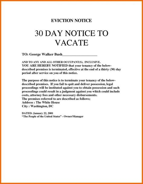 sle eviction notice month to month 30 day eviction notice template shatterlion info
