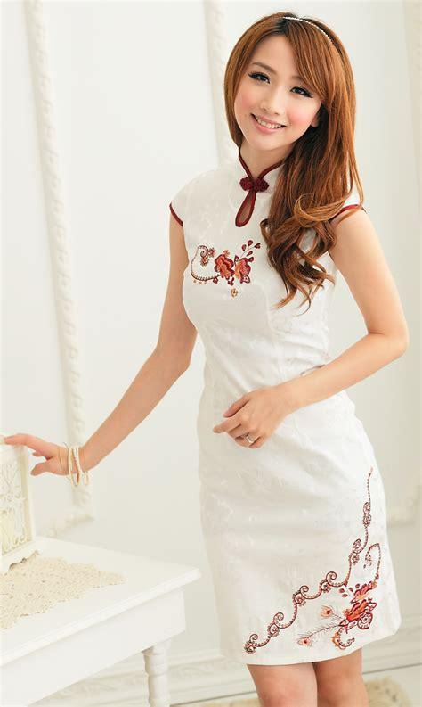Kemeja M Fit L Gracie Katun Quality Kerja Kantor Fashion baju cheongsam wanita putih model terbaru jual murah