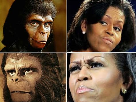 what does michelle obama really look like without her wig news headlines does michele obama look like an ape