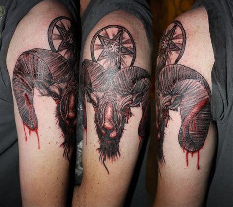 goat head tattoo satanic goat www pixshark images