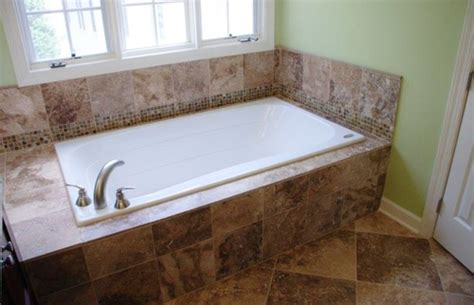 bathtub deck ideas drop in tub what is the size of the tub deck
