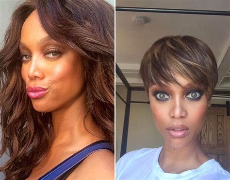 tyra banks just got a super short and super pretty pixie tyra banks debuted her super short pixie cut on instagram