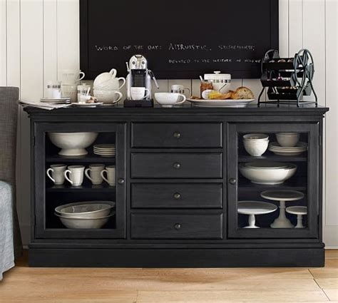 Decorating A Hutch Tucker Buffet Pottery Barn