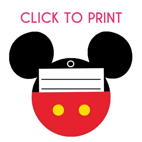 this free gallery brought to you by more at free printable mickey mouse luggage tags brought to you