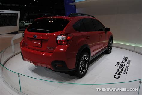 subaru trek red 2016 subaru crosstrek pure red special edition priced at