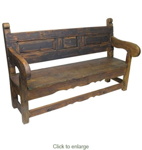 mexican bench rustic old door mexican colonial bench